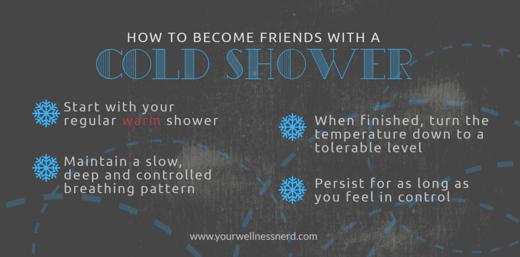 infographic of how to have a cold shower