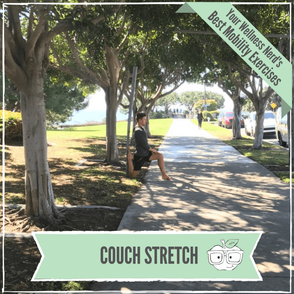 Couch stretch for anterior hip tightness