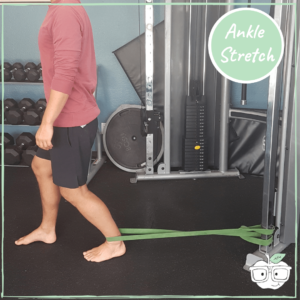 power band ankle stretch