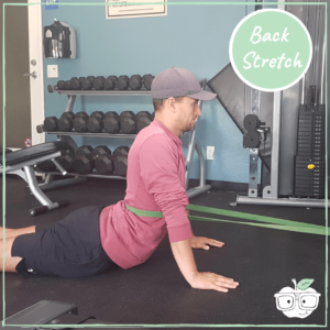 power band back extension stretch