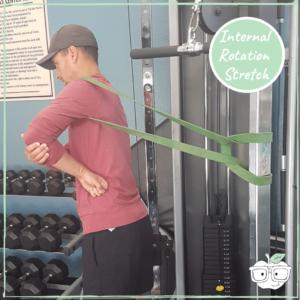 power band internal rotation shoulder stretch