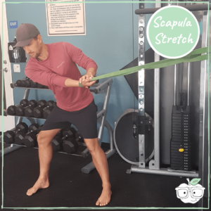 power band scapula stretch
