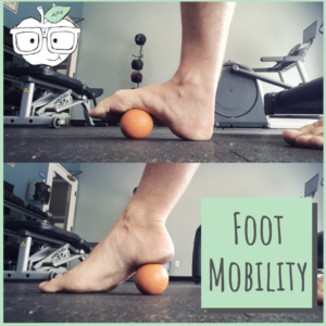 foot mobility exercise with lacrosse ball