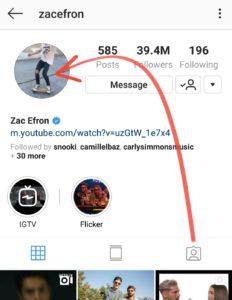 zac efron instagram profile with valgus left knee mechanics